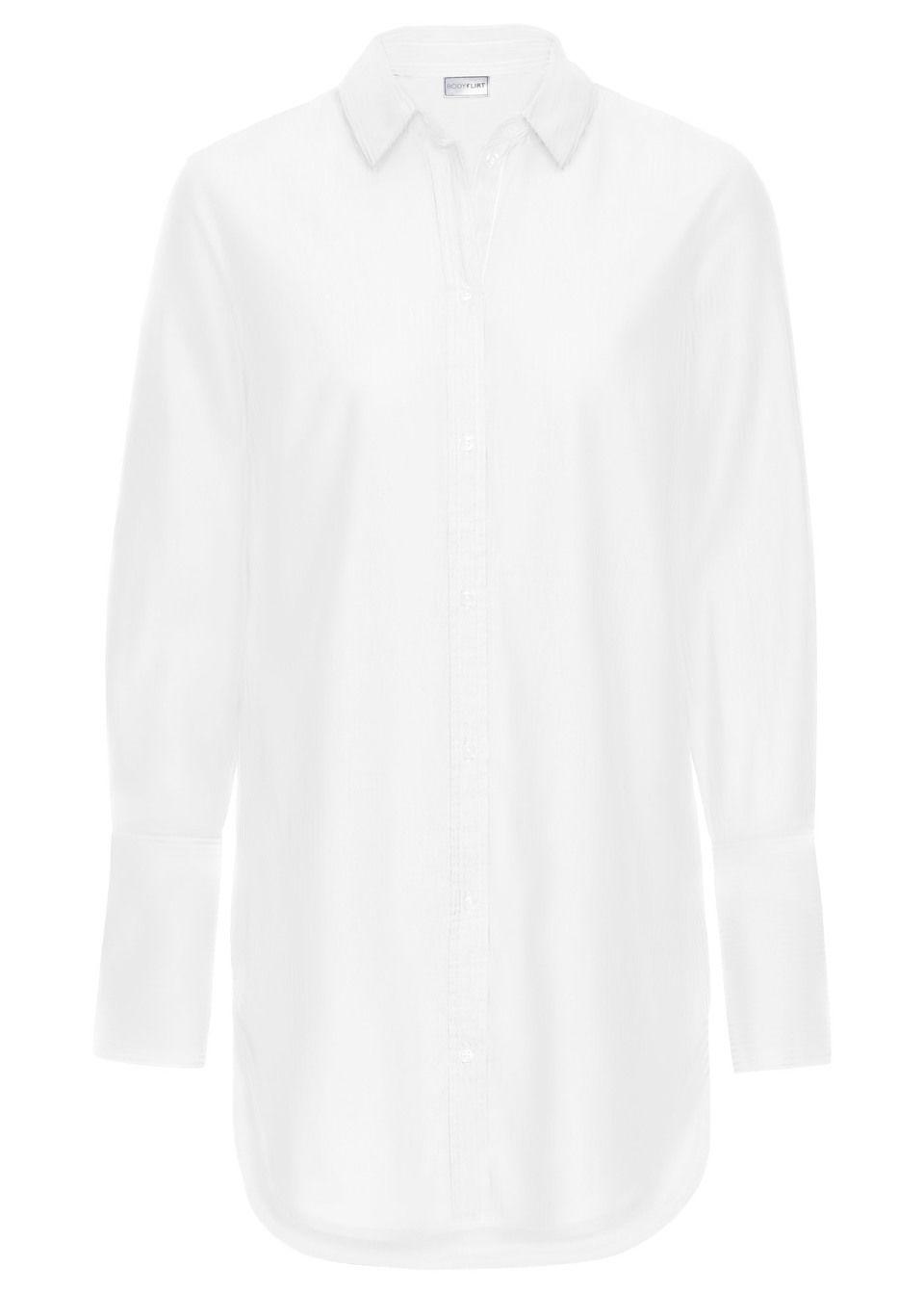 Długa  bluzka bonprix biały