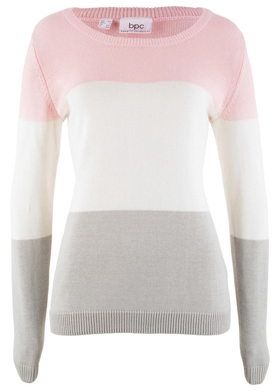 Фото - Пуловер от bonprix цвет нежно-розовый в полоску