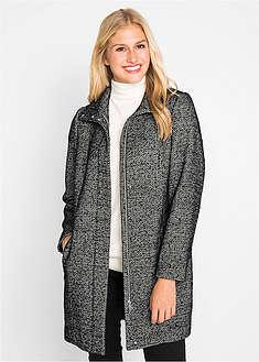 Luźniejszy płaszcz przejściowy z materiału o wyglądzie wełny-bpc bonprix collection