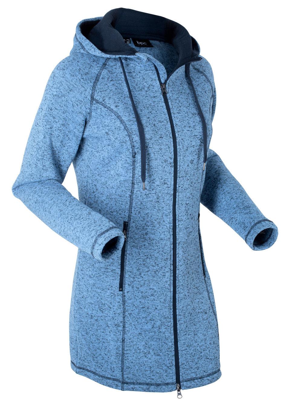 Удлиненная флисовая куртка с длинным рукавом от bonprix