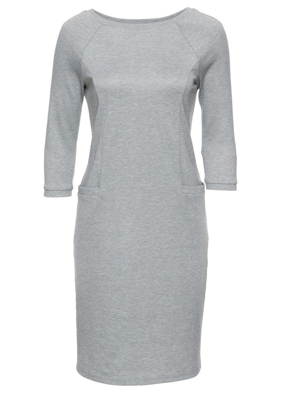 018987b60727 Šaty sivá melírovaná Ženský • 22.99 € • bonprix