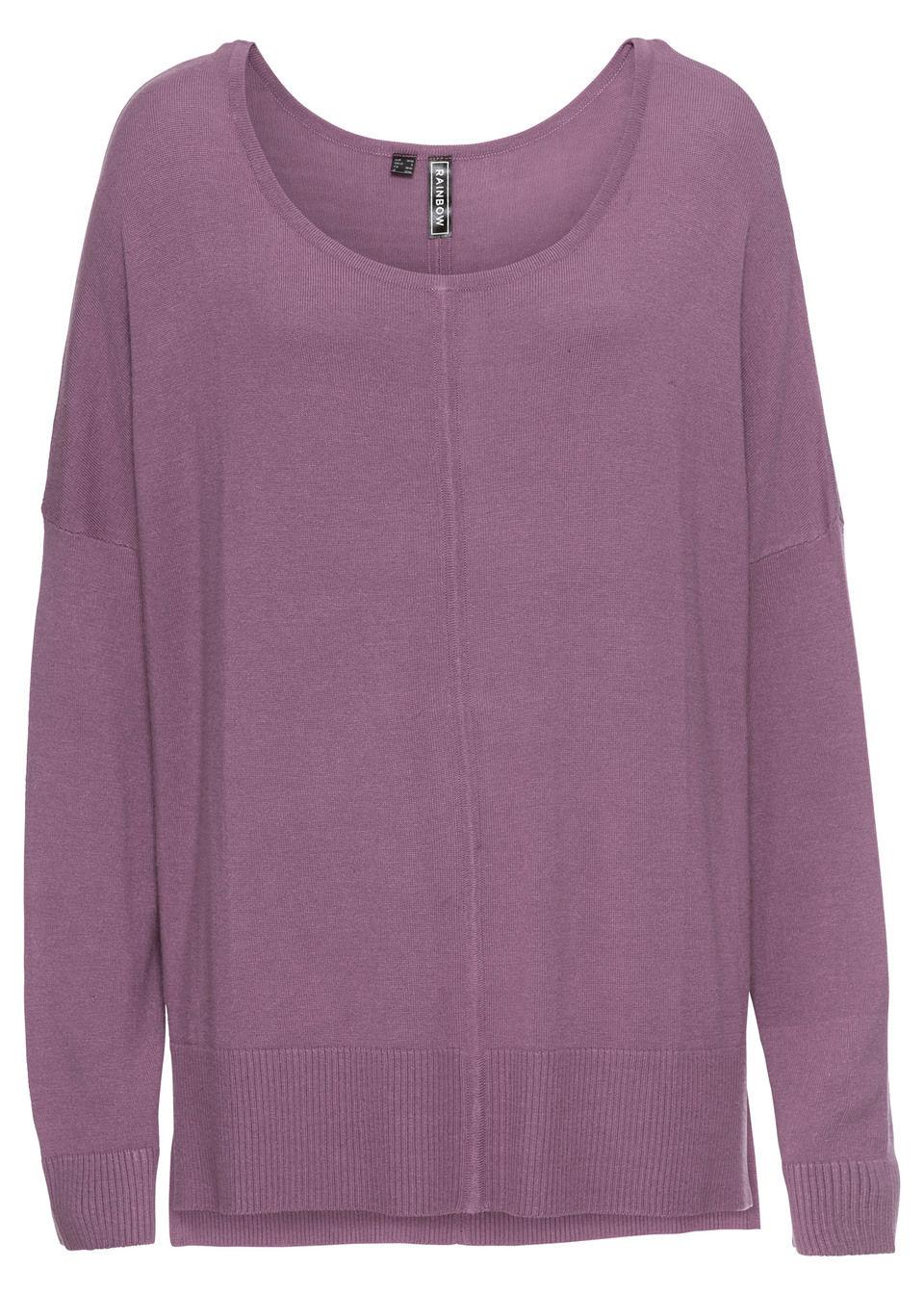 Вязаный пуловер в стиле «оверсайз»