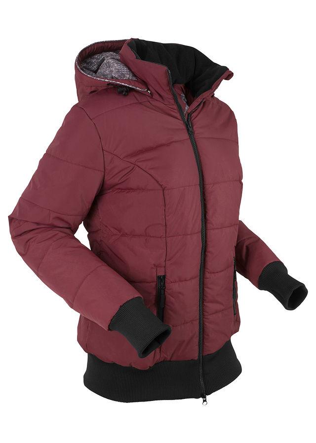 fd89ee2f0ba Стеганая куртка на подкладке с принтом кленово-красный-черный • 1699.0 грн  • bonprix