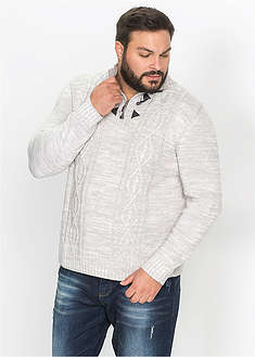 Sweter w warkocze-bpc bonprix collection