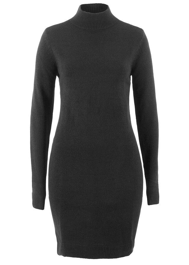 Pletené šaty so stojačikom čierna • 12.99 € • bonprix e064479d47c