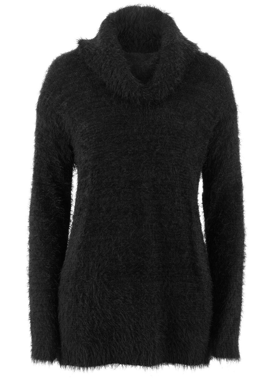 Пуловер из пушистой пряжи в стиле «оверсайз»
