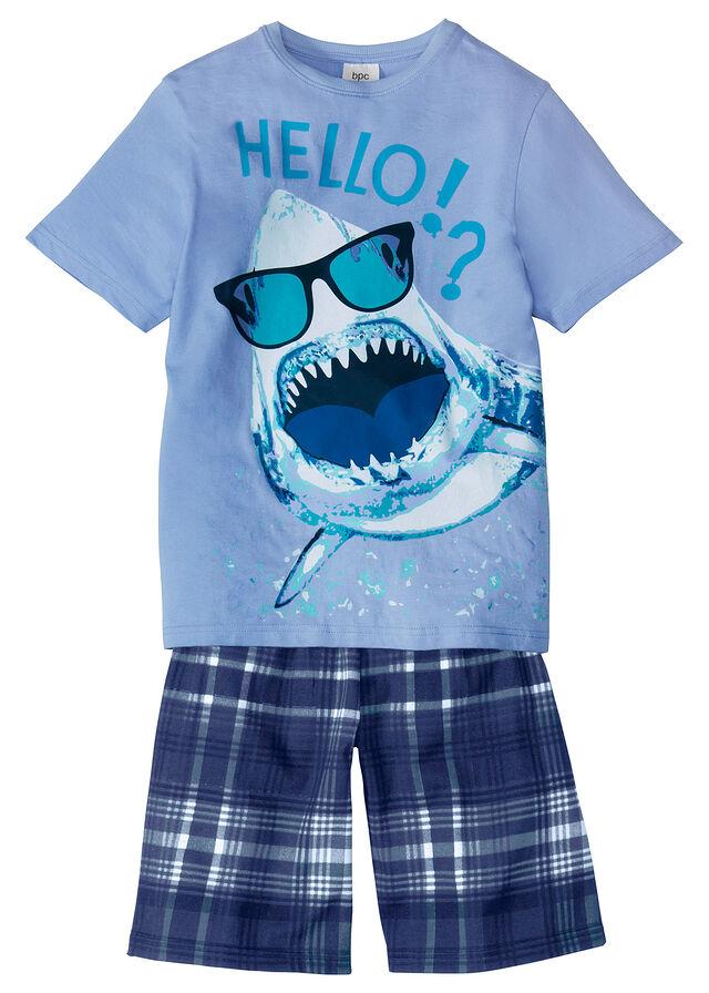 f2a85cc68afd Krátke pyžamo (2-dielne) • perlovo modrá-ľadovcovo modrá potlačená • bonprix