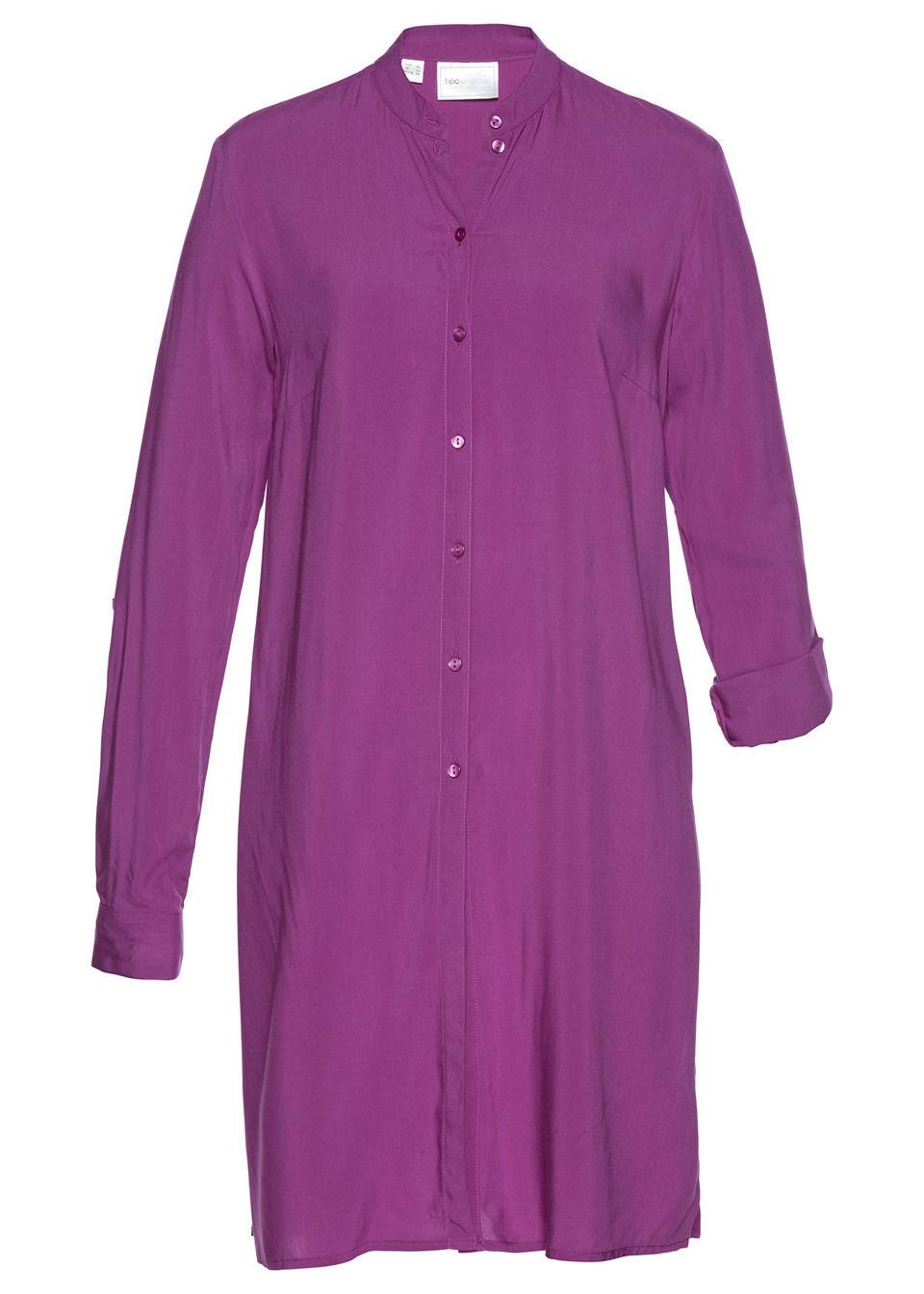 Długa  bluzka bonprix piwonia
