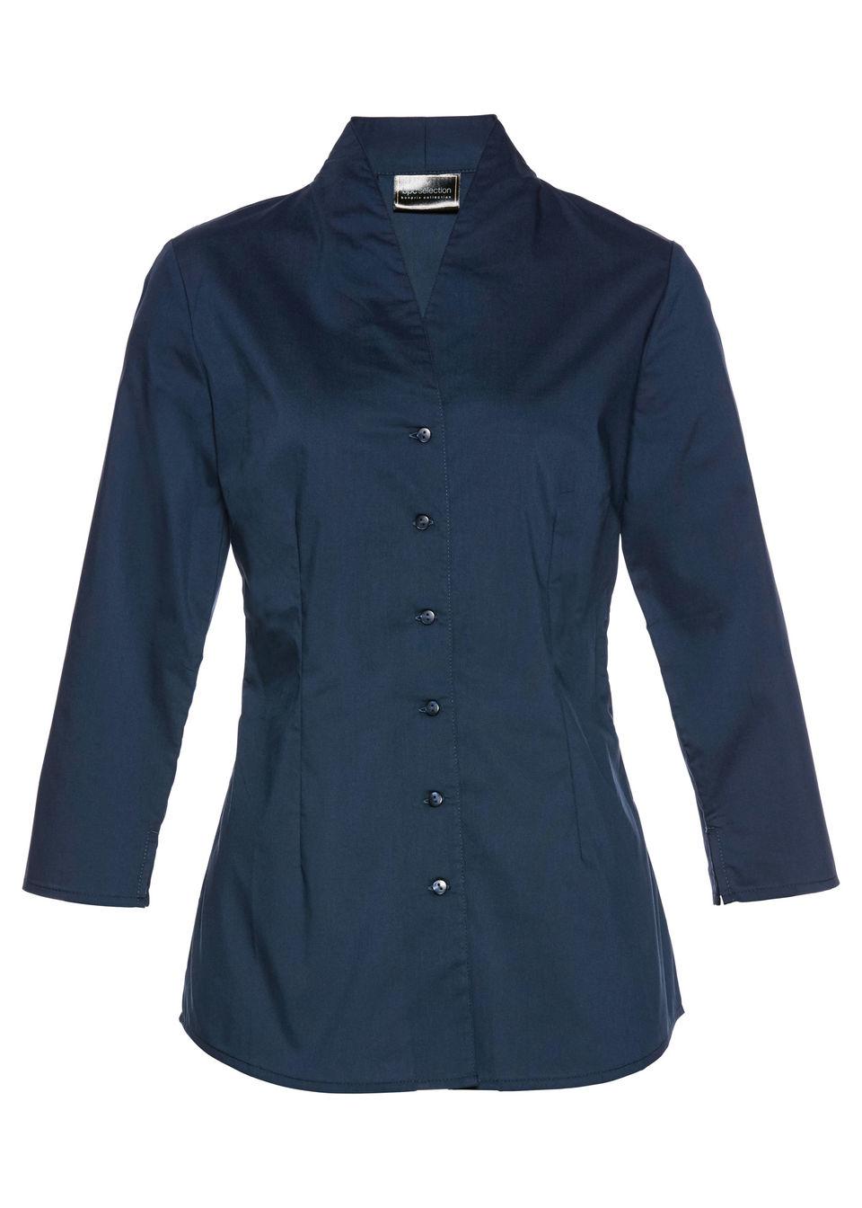 Bluză cu guler şal bonprix