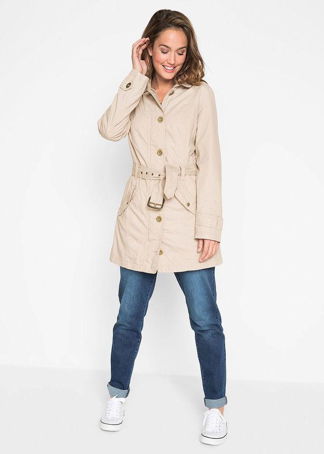 Trenčkot kabát štrkovo béžová Moderný • 27.99 € • bonprix ecea32e6758