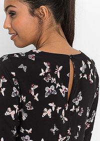 d1899ff415 Sukienka z wiskozy czarny z nadrukiem w motyle • 74.99 zł • bonprix