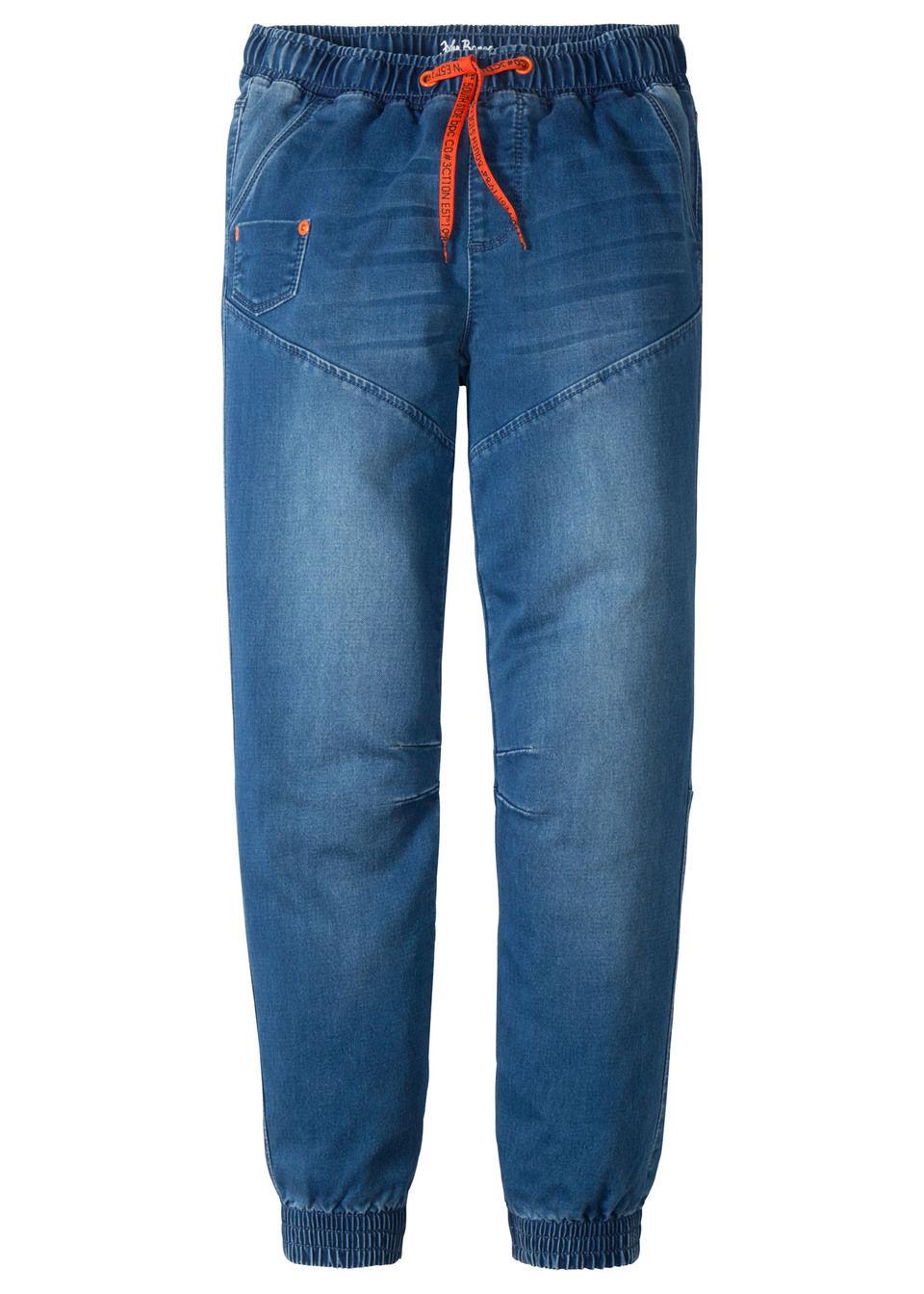 Трикотажные брюки в стиле деним от bonprix