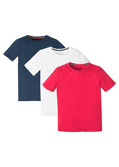 T-shirt chłopięcy basic (3 szt.)-bpc bonprix collection