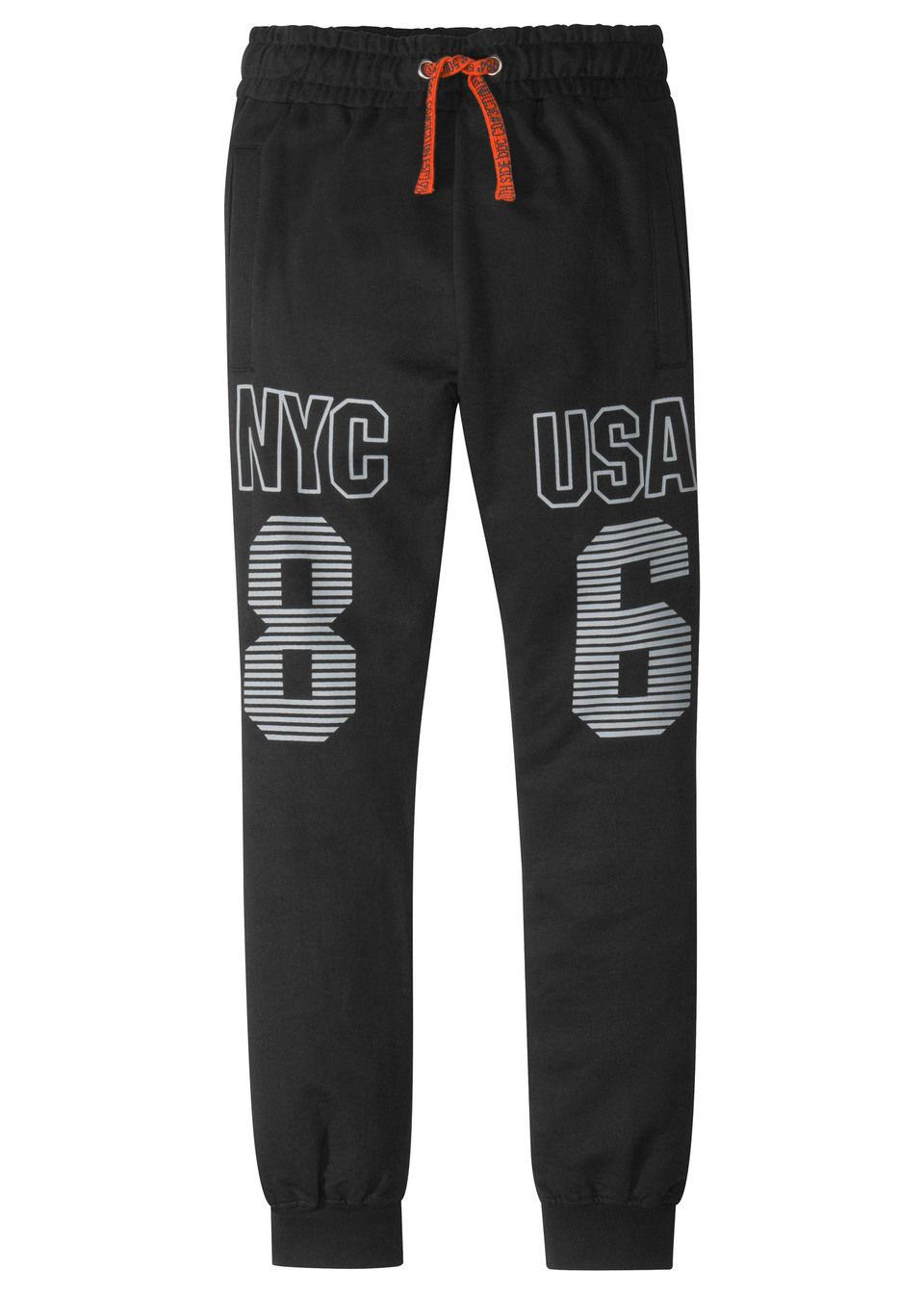 Трикотажные штаны с принтом от bonprix