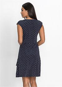 cbe0441a43f6 Bodkované šaty tmavomodrá ecru • 21.99 € • bonprix