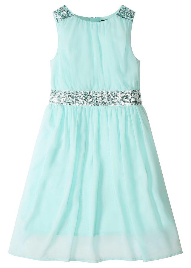 Party ruha flitterekkel pasztell kékeszöld • 6999.0 Ft • bonprix 40017ec863