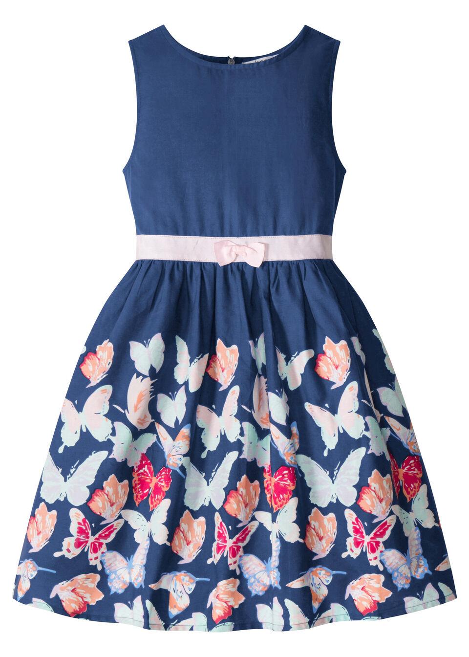 Платье с узором с бабочками