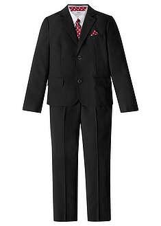 Oblek + košeľa + kravata (4-dielna súprava)-bpc bonprix collection