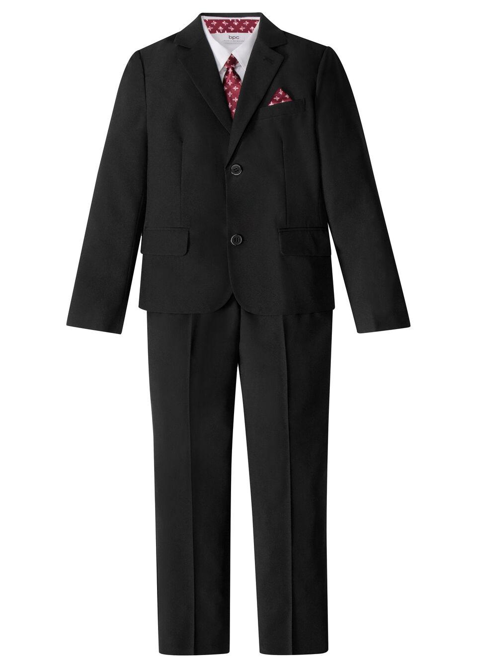 Костюм (4 изд.): пиджак, брюки, рубашка и галстук от bonprix
