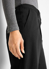Pantaloni stretch 7/8, loose negru bpc bonprix collection 5