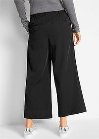 Pantaloni stretch 7/8, loose negru bpc bonprix collection 2