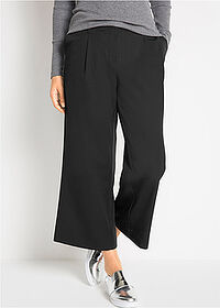 Pantaloni stretch 7/8, loose negru bpc bonprix collection 1