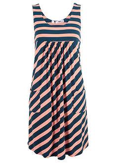 c7ed12e903 Sukienka ze stretchem w paski łososiowy jasnoróżowy ...