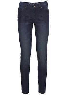 Dżinsy Super SKINNY, krótsze nogawki ciemny denim