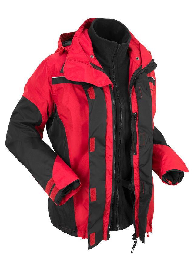 Bunda do každého počasia 3 v 1 červená čierna • od 39.99 € • bonprix dc97d443a0