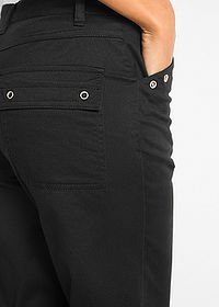 Pantaloni 7/8 cu stretch negru bpc bonprix collection 5
