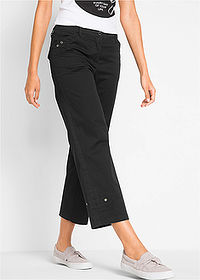 Pantaloni 7/8 cu stretch negru bpc bonprix collection 1