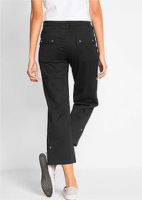 Pantaloni 7/8 cu stretch negru bpc bonprix collection 2