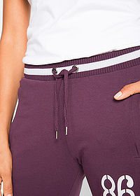 Pantaloni sport strech mov închis bpc bonprix collection 5