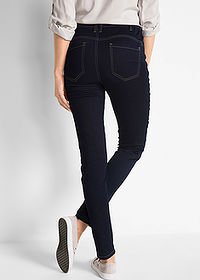 "Dżinsy ""Power-stretch-push-up"", wysoka talia ciemny denim bpc bonprix collection 2"