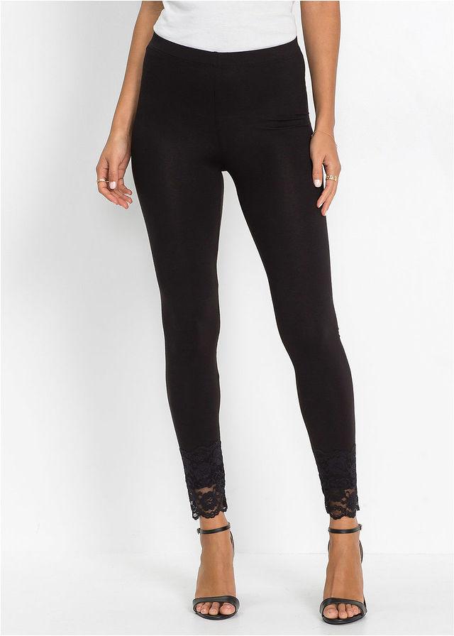 ad0958ca2a Csipkés legging fekete Kényelmes legging • 3499.0 Ft • bonprix