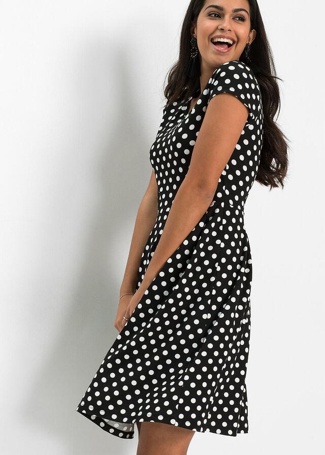 4162994f0b Dzsörzé ruha fekete/fehér pöttyös • 5499.0 Ft • bonprix