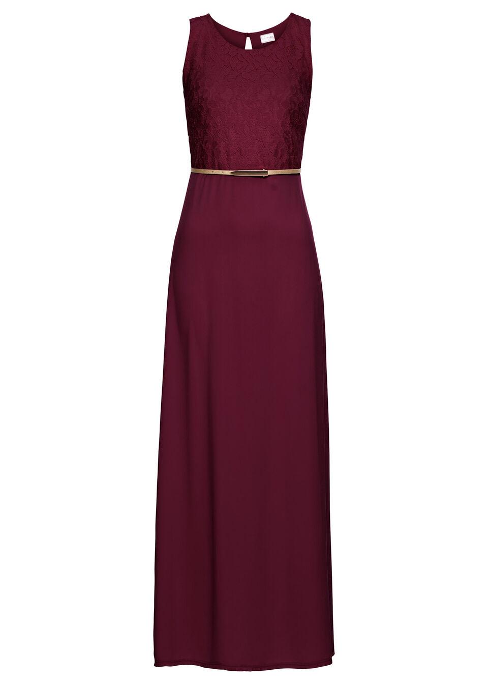 Макси платье с ремешком в талии