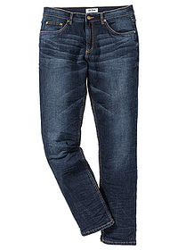 Dżinsy ze stretchem Slim Fit Tapered ciemny denim John Baner JEANSWEAR 0