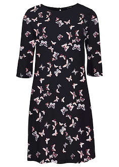 a9bf8c20b1 Sukienka z wiskozy czarny z nadrukiem w motyle • 74.99 zł • bonprix