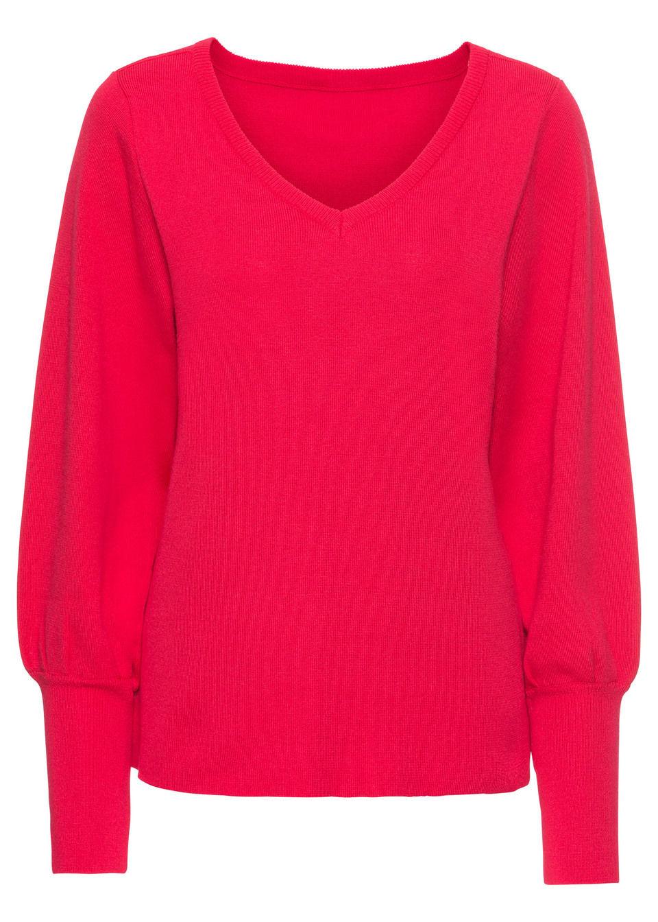 Обязательный элемент гардероба: пуловер с рукавами-баллонами