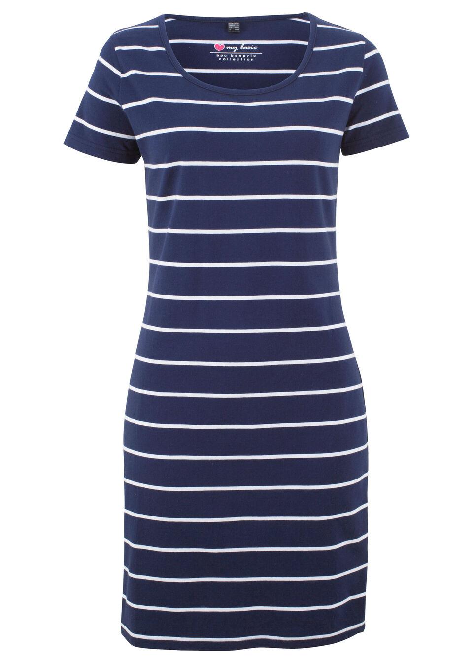 Трикотажное платье-стретч с коротким рукавом