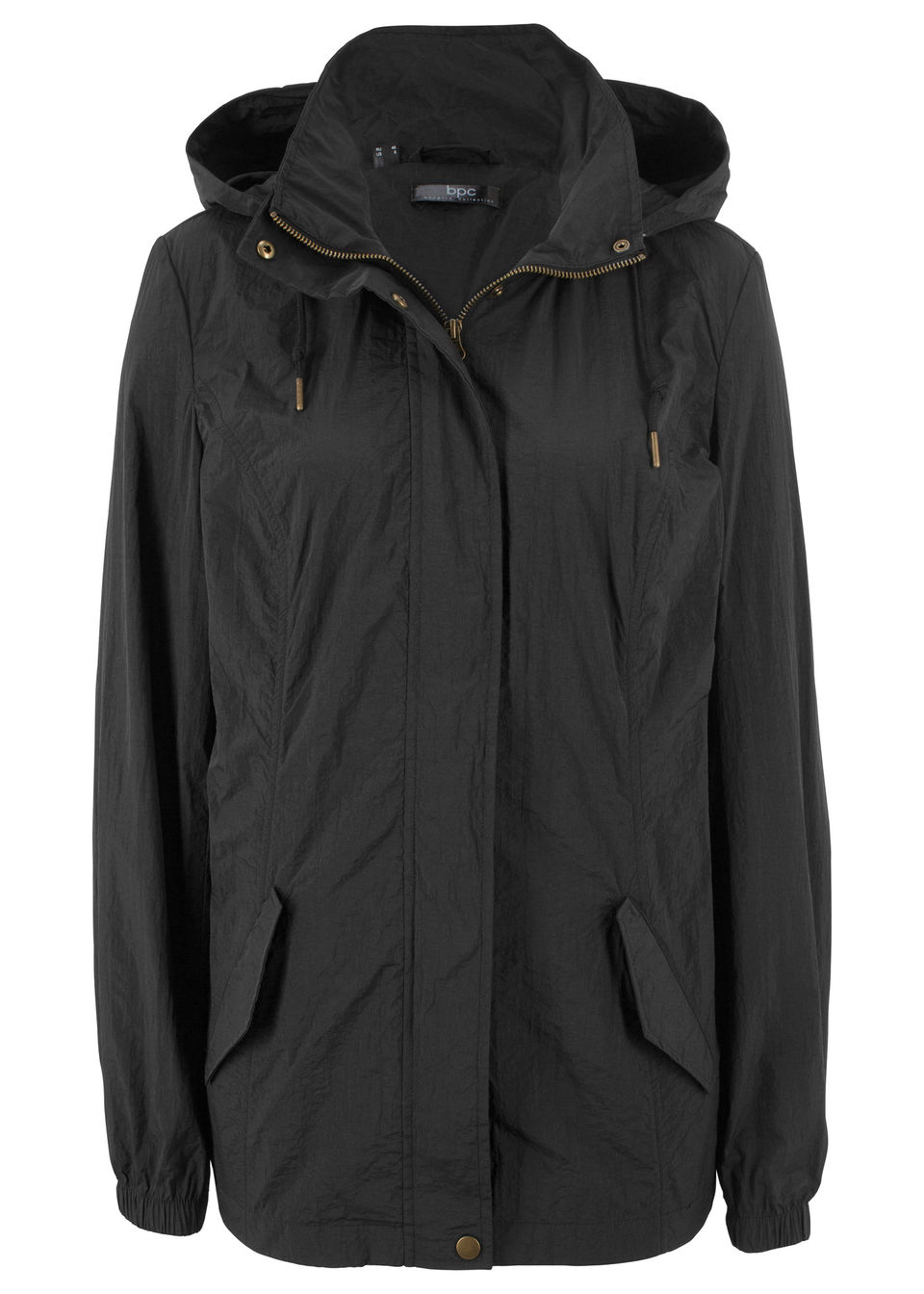 Купить Легкая куртка-парка с капюшоном, bonprix, черный