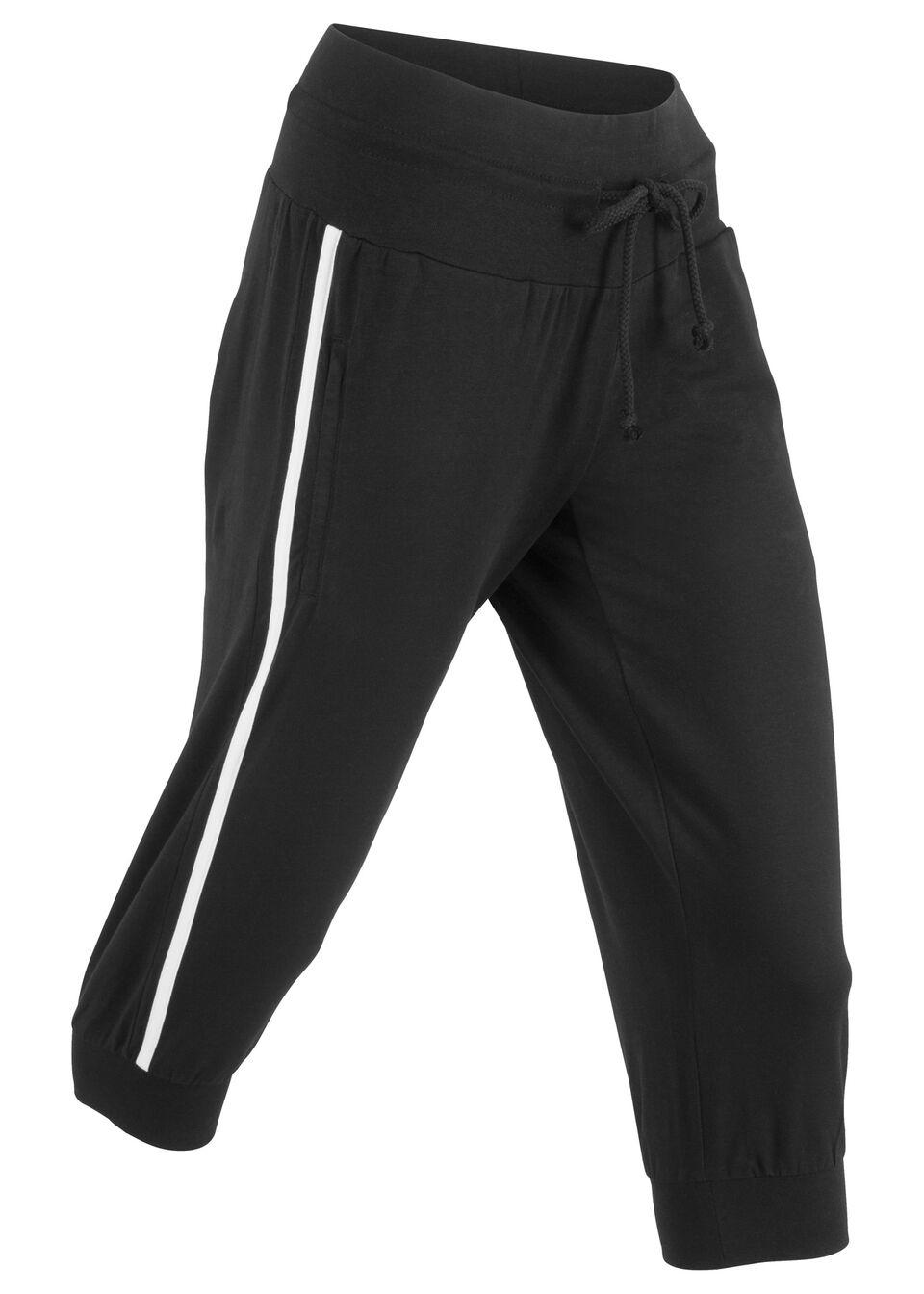 Spodnie sportowe 3/4, Level 1 bonprix czarny