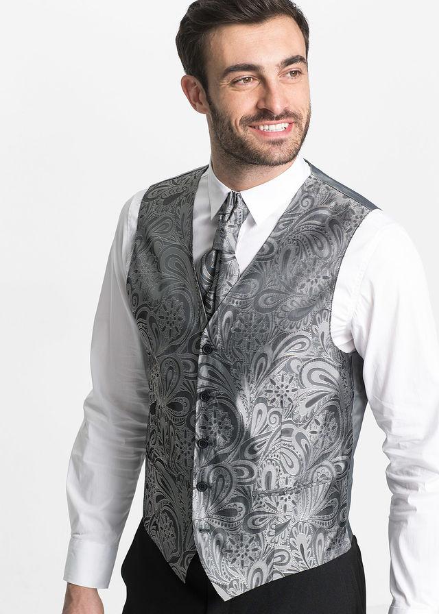 8b5cec4574 5-részes öltöny: zakó, nadrág, mellény, ing, nyakkendő sötétkék ...