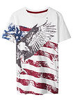 Tricou Slim Fit alb/America bpc bonprix collection 14