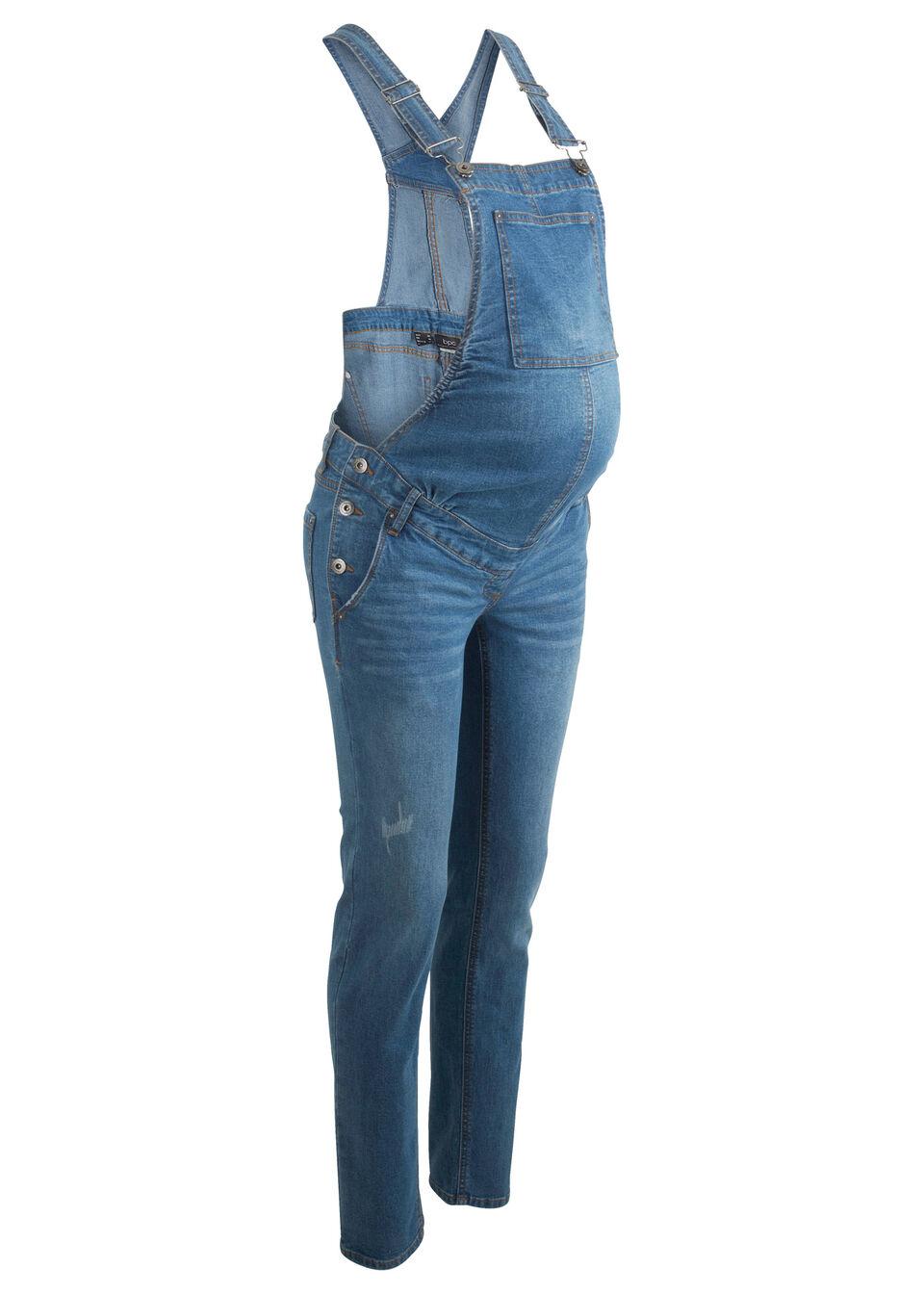 Для будуших мам: узкий джинсовый комбинезон