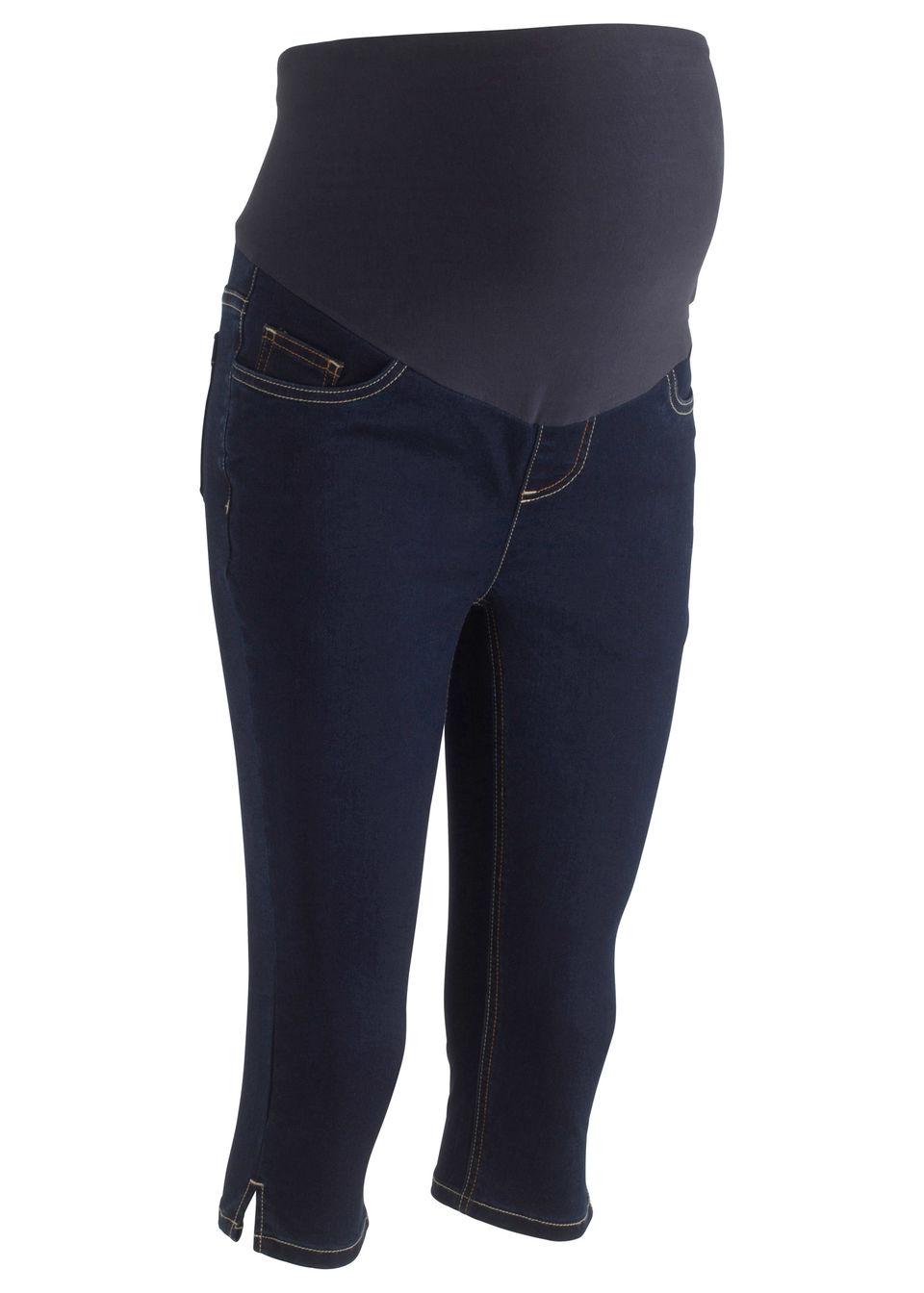 9f80209a6eef Tehotenské capri džínsy tmavá denim • 24.99 € • bonprix
