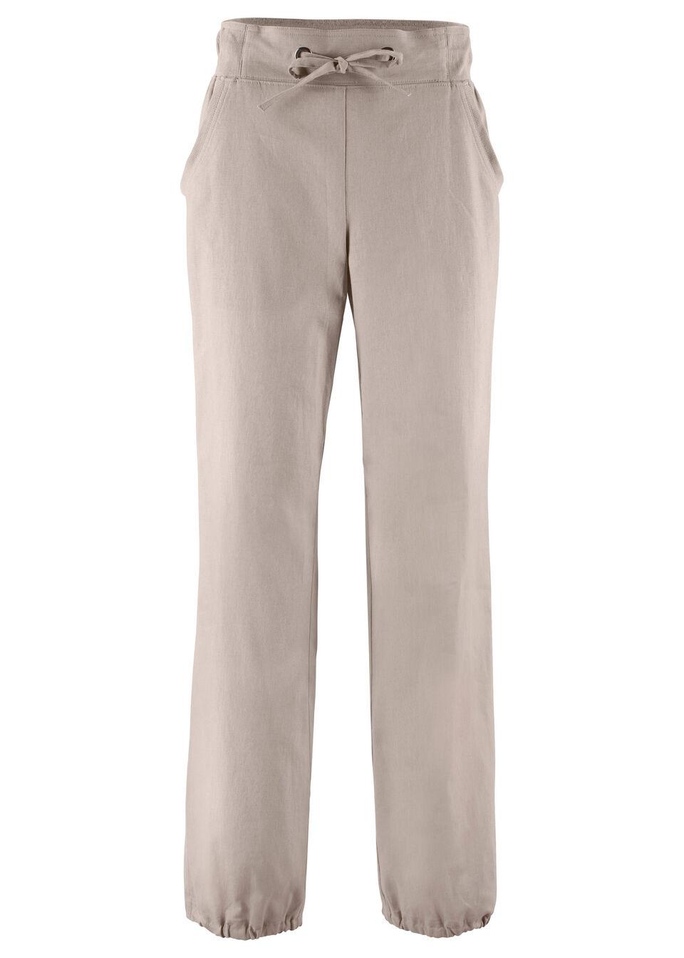 Льняные брюки с поясом в «резинку»
