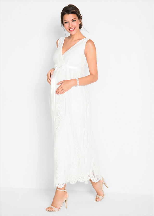 Sukienka Ciążowa Wieczorowaślubna Biel Wełny 31999 Zł Bonprix