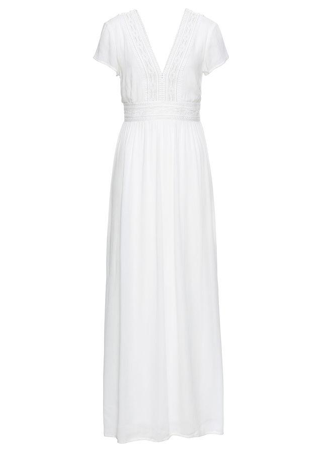 Maxi šaty s čipkou biela vlna Prekrásne • 44.99 € • bonprix 6bf4e17d288